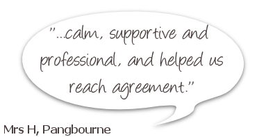 CSM Family Mediation Feedback, stating: calm, supportive and  professional,and helped us reach agreement
